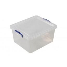Boîte transparente 17.5 litres avec couvercle hauteur 190 mm