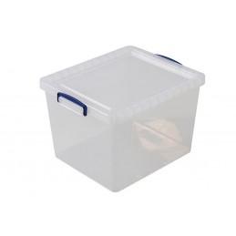 Boîte transparente 33.5 litres avec couvercle hauteur 300 mm