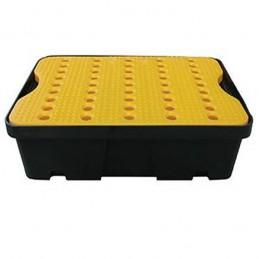 Bac de rétention 600 x 400 mm 20 litres avec caillebotis jaune