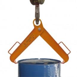 Pince pour le levage vertical des fûts en acier capacité 500 kg.