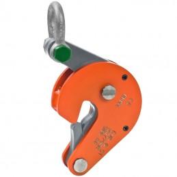 Pince pour levage et transport vertical de futs acier avec verrouillage automatique.