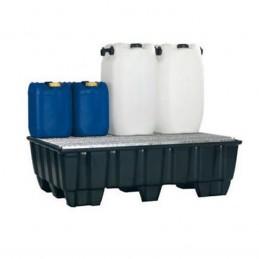 Bac de rétention 215 litres avec plateforme zinguée