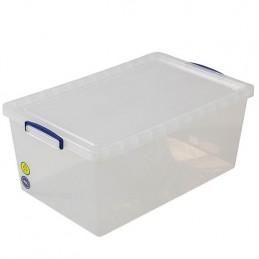 Boîte transparente 62 litres avec couvercle hauteur 270 mm