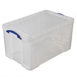 Boîte de rangement empilable avec couvercle 84 litres.