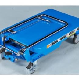 Table élévatrice 150 kg manuel Bishamon une fois repliée.