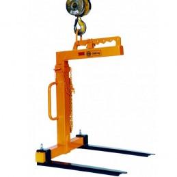 Lève-palette à équilibrage manuel et hauteur et largeur réglable.