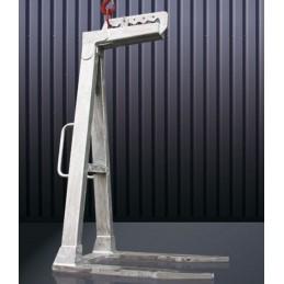Lève-palette aluminium avec écartement et hauteur fixe.
