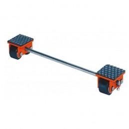 Rouleur ajustable 4000 kg avec barre de liaison.