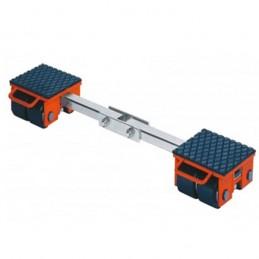 Rouleur ajustable 8000 kg avec barre de liaison
