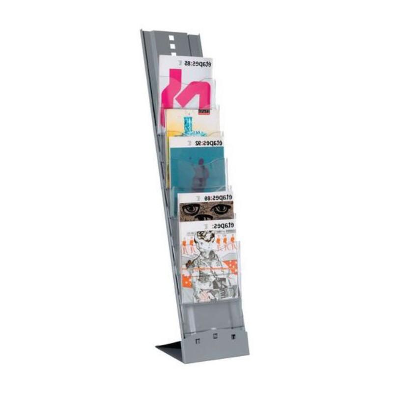 Présentoir pour brochures transportable 7 cases.
