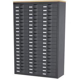 Meuble de classement 3 colonnes et 60 tiroirs couleur anthracite.
