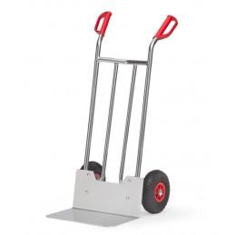 Diable aluminium 150 kg avec bavette extra large avec roues gonflables.