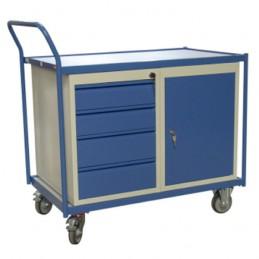 Servante d'atelier avec 1 bloc tiroir et un bloc porte.