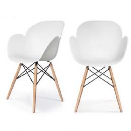 Lot de 2 chaises visiteurs KIWOOD esprit contemporain