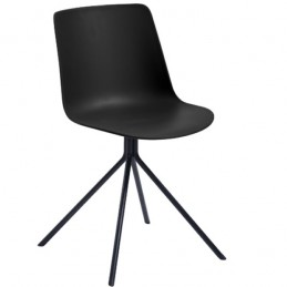 Lot de 2 chaise visiteurs au design épuré couleur noire
