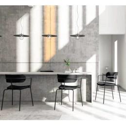 Lot de 4 chaises couleur look bistro pour cafétéria