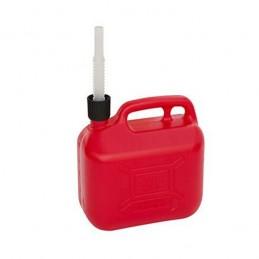 Jerrycan essence 5 litres avec ligne de visibilité