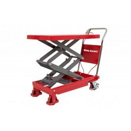 Table élévatrice 350 kg manuelle hauteur 1300 mm levée.