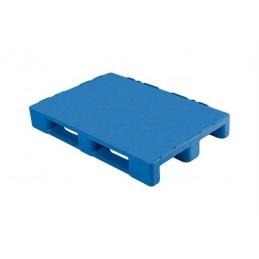 Palette alimentaire 1200 x 800 x 155 mm 3 semelles bleue