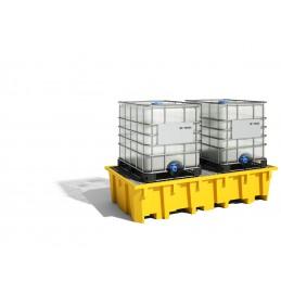 Bac de rayonnage 1330 Litres : exemple d'utilisation avec conteneur IBC