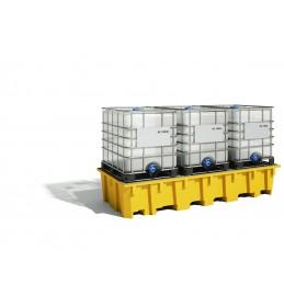 Bac de rayonnage 1650 Litres : exemple avec 3 conteneurs IBC
