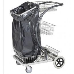 Chariot de ménage ultra maniable avec sac poubelle