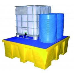 Bacs de rétention 1500 litres pour conteneurs.