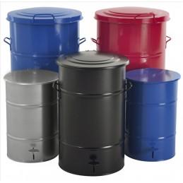 Poubelle en acier galvanisé 115 litres de couleur