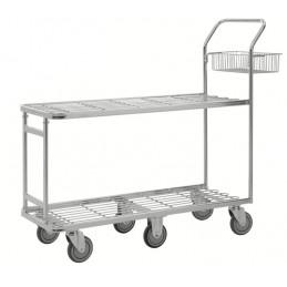 Chariot galvanisé pour magasin et supermarché