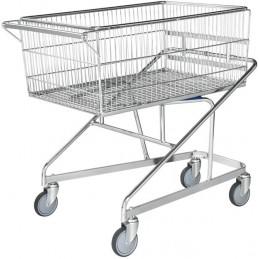 Chariot de magasin avec panier supérieur