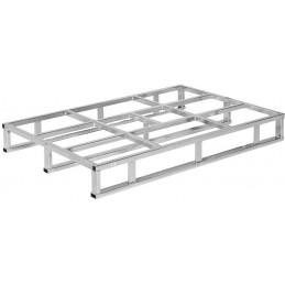 Palette en acier galvanisé avec 1 cadre et 2 filets
