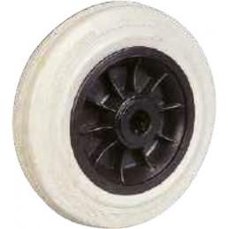 Roues industrielles corps thermoplastique et bandage caoutchouc gris