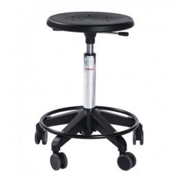 Tabourtet d'atelier avec repose-pied et roulettes Sigma OCTOPUS.