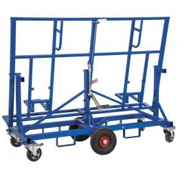 Chariot porte panneau haut de gamme pour chantiers exigeants