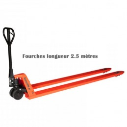 Transpalette manuel fourches longueur 2500 mm