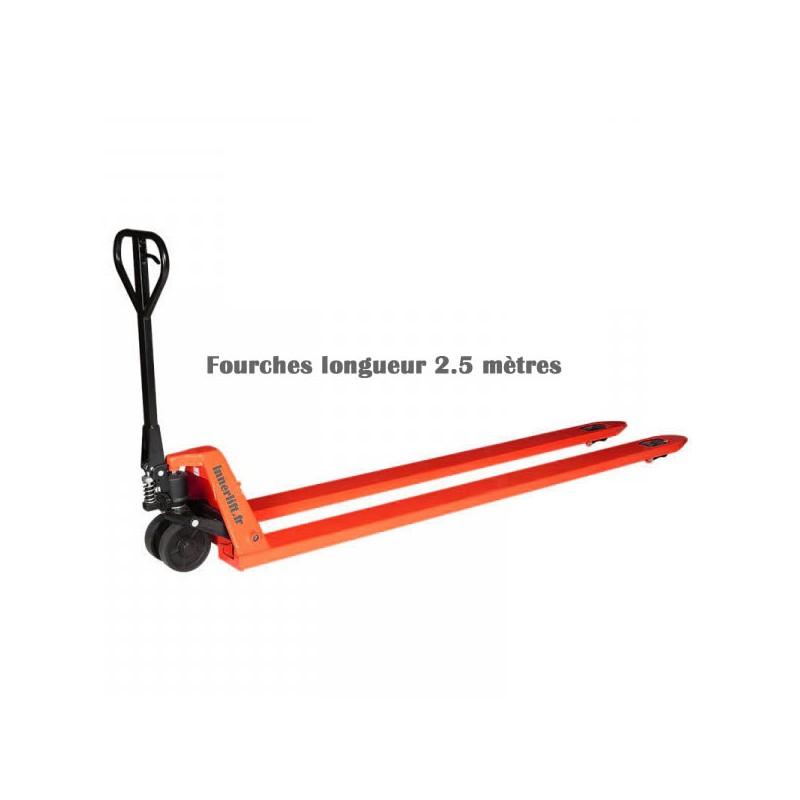 Transpalette manuel fourches longueur 2500 mm