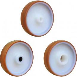 Roue industrielle à bandage polyuréthane injecté brun