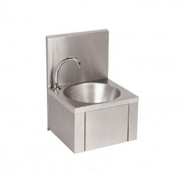 Lave-main en inox avec cuve ronde de 350 mm