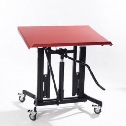 Table de travail mobile avec plan inclinable