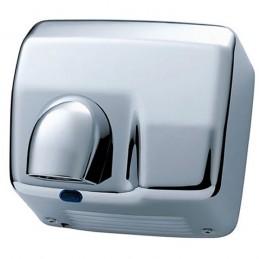 Sèche-mains automatique avec chauffage inox 304 brillant