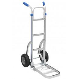 Diable aluminium double-pelle et rail de glissement escalier