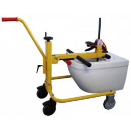 Chariot d'aide au montage de cuvette WC