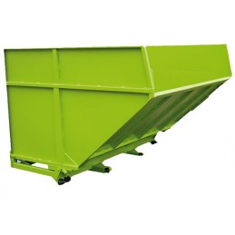 Benne basculante grand volume pour déchets à faible densité