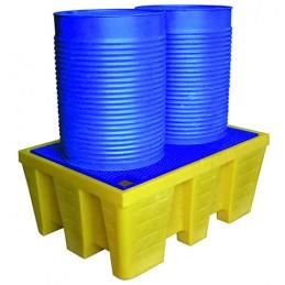 Bac de rétention 450 litres pour 2 fûts
