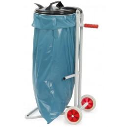 Chariot collecteur de déchets pour sac poubelle de 120 litres