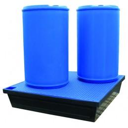Bac de rétention 240 litres fond plat carré