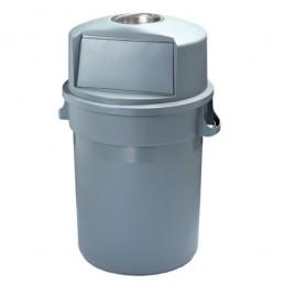 Conteneur à déchets avec trappe style PUSH et cendrier