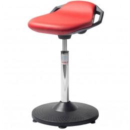 Tabouret assis-debout Space d'atelier couleur rouge