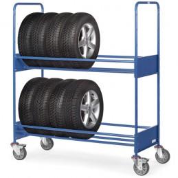 Chariot manuel pour pneus et roues sur 2 étages