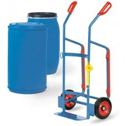 Diable compatible pour fûts en plastique de 120-220 litres